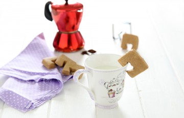 Biscotti da latte al caffè senza uova