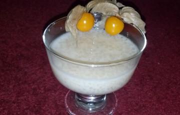 Budino di tapioca al latte di cocco