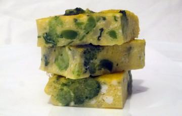 Frittata di broccoletti, ricotta e fontina