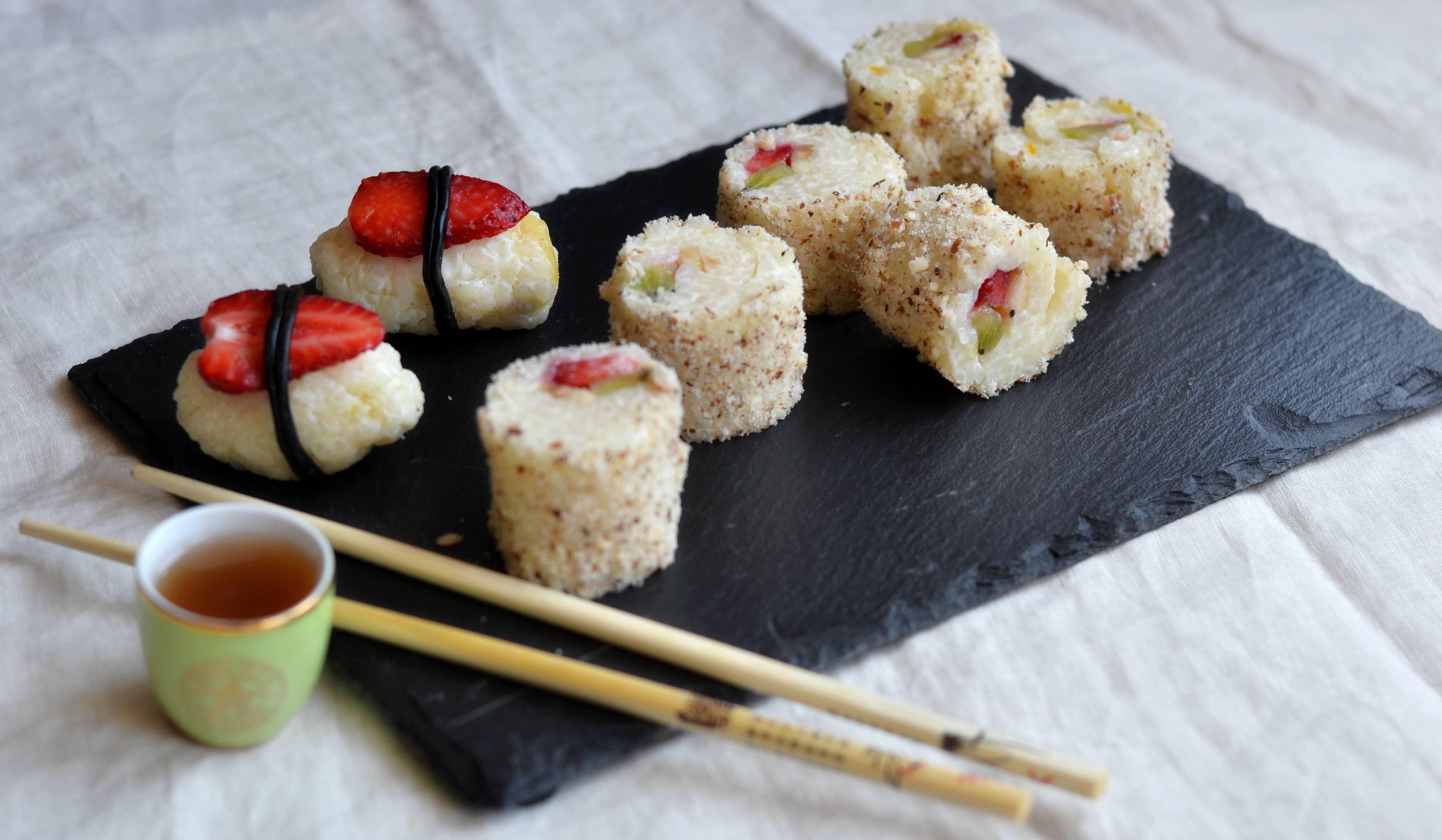 Sushi dolce con la frutta ricette tamara giorgetti d - Cucina macrobiotica dolci ...
