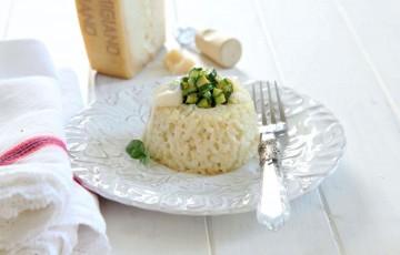 Timballi di riso con zucchine e parmigiano