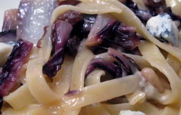 Fettuccine radicchio e gorgonzola