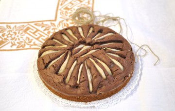 Torta cacao, ricotta e pere senza glutine