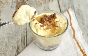 Cremoso senza glutine con pere caramellate