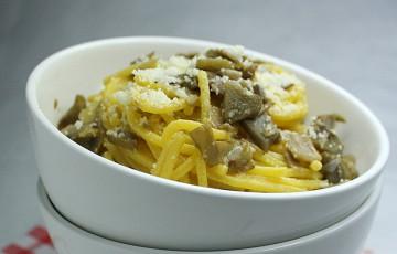 Ricetta pasta con carciofi e uova