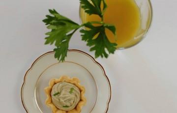 Cestini con gorgonzola e cipolla caramellata