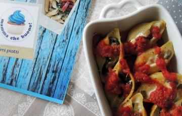 Conchiglioni ripieni di melanzane & mozzarella!
