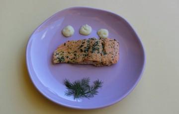 Salmone con salsa di finocchio