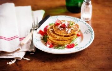 Pancake con zucca e rosmarino