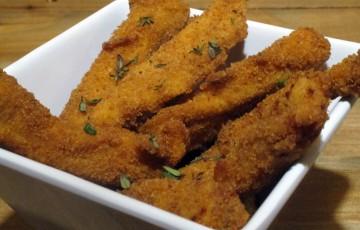 Sfilacci di pollo fritto