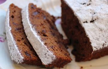 Plum cake cioccolato e caffè