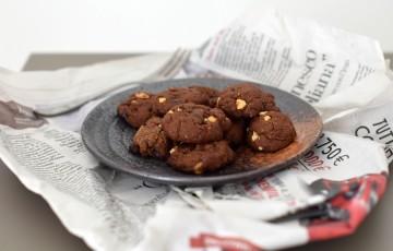 Vegan cookies al doppio cioccolato