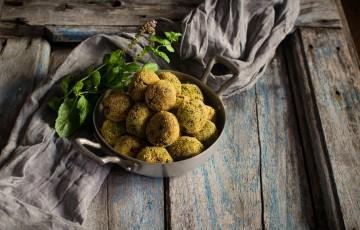 Polpette di germogli di zucchina, talli,tenerumi