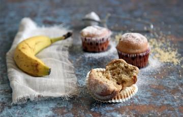 Muffin al miglio e banana
