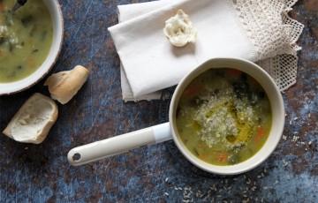 Zuppa di bietole con patate e riso