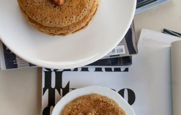 Pancakes integrali senza burro e senza lattosio