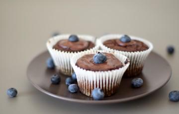 Cupcakes con cioccolato e tahina