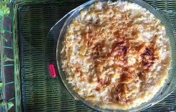 Pasta mista con patate e provola al forno