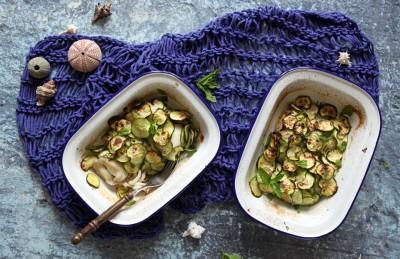 Seppie gratin con zucchine