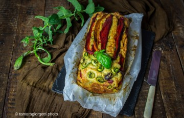 Plumcake con peperoni, zucchine e melanzane