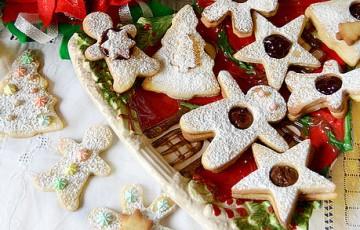 Biscotti di Natale fantasy alle mandorle