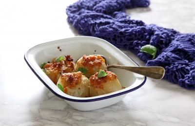 Cipolle ripiene di zucca e salsiccia