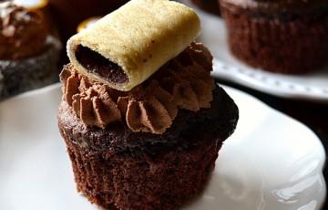 Muffin al caffè e cioccolato con ganache al caffè
