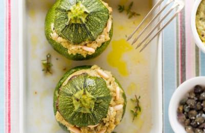 Zucchine ripine con olive e capperi