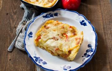 Lasagne peperoni e patate nel forno Estense