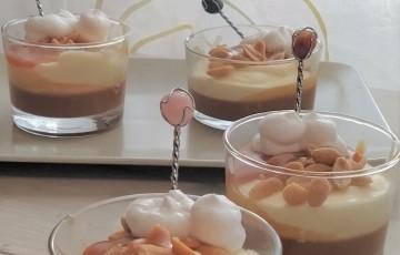 Mousse al cioccolato bianco e caramello