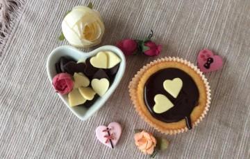 Viennese tartlets con ganache al cioccolato