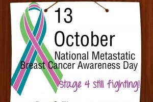 13 ottobre, una giornata per il tumore al seno metastatico