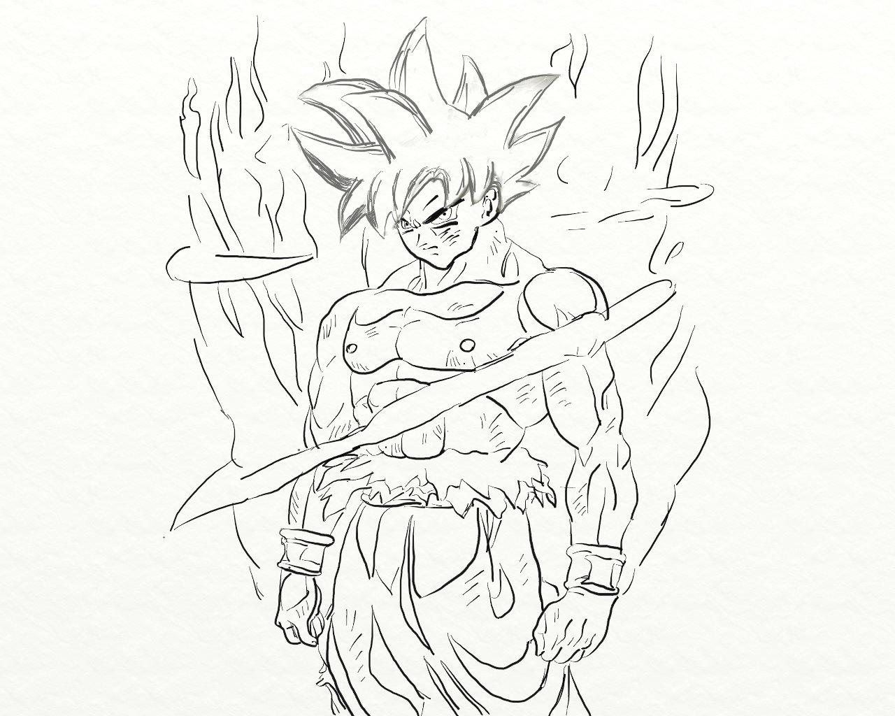 Goku Ultra Istinto Il Mio Disegno Repubblica At Scuola Il