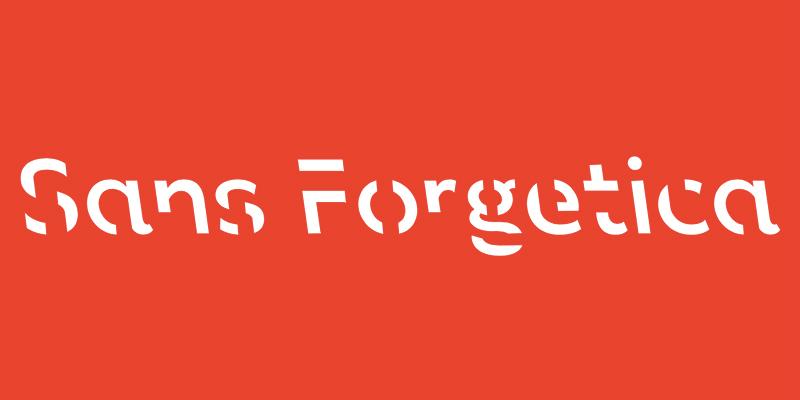 Esempio dell'utilizzo dei caratteri di Sans Forgetica