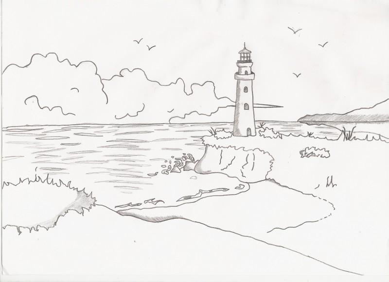 Paesaggio che infonde serenit il mio disegno for Disegni da colorare paesaggi marini