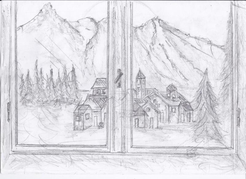Paesaggio montano il mio disegno repubblica scuola for Paesaggi facili da disegnare