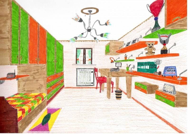 La mia cameretta rispecchia p il mio disegno - Disegni camera da letto ...