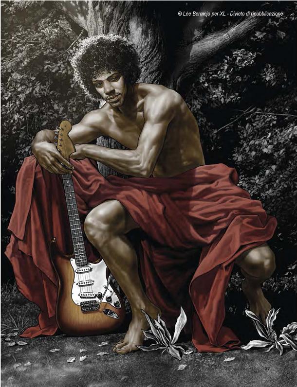 © Lee Bermejo  - Il disegnatore della Marvel e DC Comics reintrepreta in esclusiva per XL Jimi Hendrix