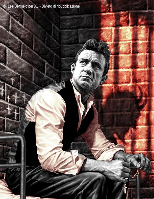 © Lee Bermejo – Il disegnatore della Marvel e DC Comics reintrepreta in esclusiva per XL  Johnny Cash