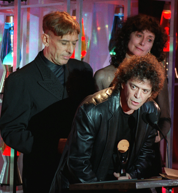 Rock and Roll Hall of Fame, 17 gennaio 1996.  Foto AP