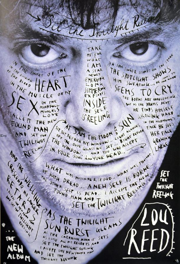 Il poster realizzato da Stefan Sagmeister/Timothy Greenfield Sanders  per annunciare l'uscita dell'album Set The Twilight Relling, 1996