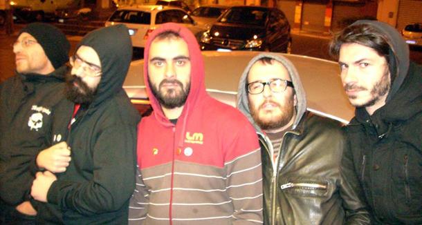 Fratelli del Cielo (Superamici) da sin.: Dr. Pira, Tuono Pettinato, Maicol & Mirko, Lrnz e Ratigher