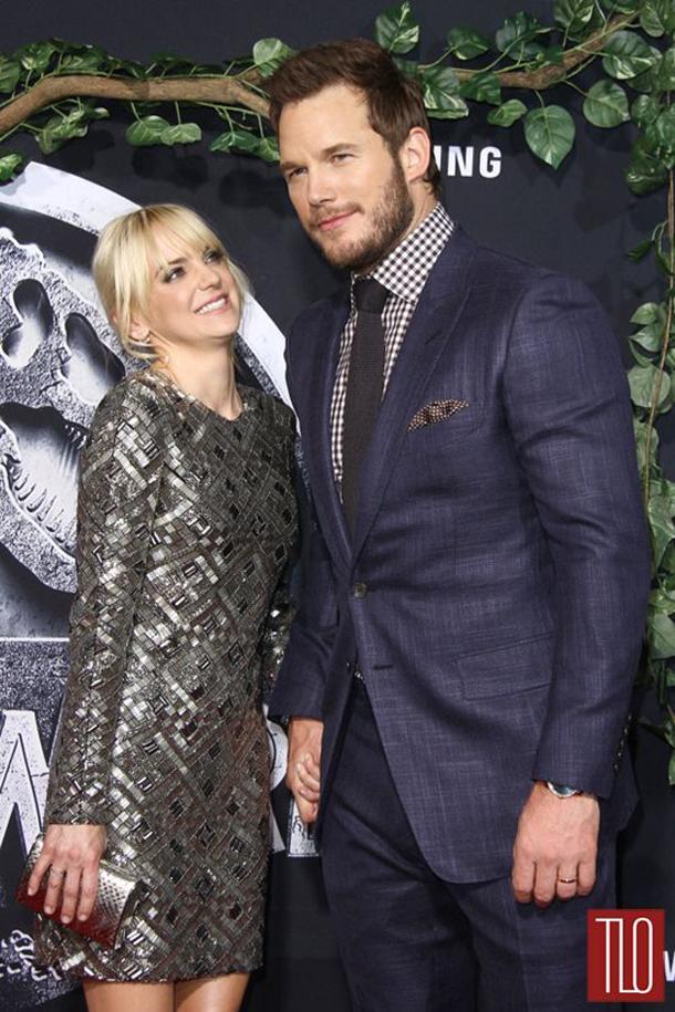 Chris Pratt e la moglie, l'attrice Anna Faris