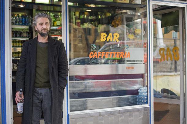 Ascanio Celestini Posato durante riprese del film Viva la sposa Roma febbraio/marzo 2015