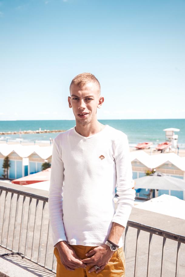 Adlane Djemil, l'attore protagonista del film fotografato a Venezia da Giacomo Cosua