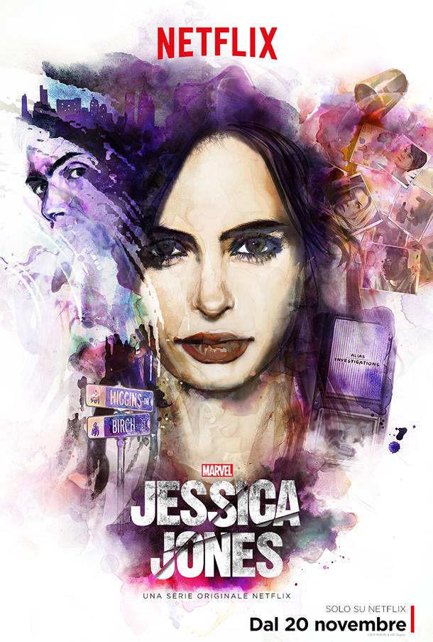 La locacandina della serie originale Marvel's Jessica Jones