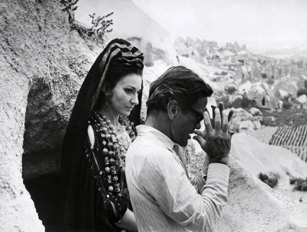 Maria Callas e Pier Paolo Pasolini sul set del film Medea, 1969. AFP PHOTO