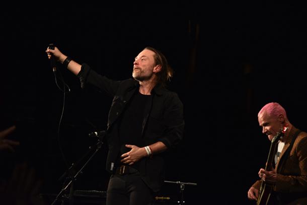 Thom Yorke e Flea © Giacomo Cosua