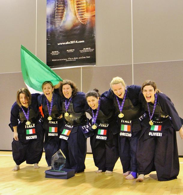 La squadra femminile italiana