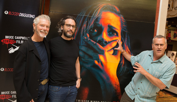 ROSEMONT, IL - AUGUST 18: Stephen Lang, Director Fede Alvarez, and Bruce Campbell attend the DON'T BREATH Screening at Bruce Campbell Horror Film Festival on August 18, 2016 in Rosemont, Illinois. (Photo by Tasos Katopodis/Getty Images for Sony)